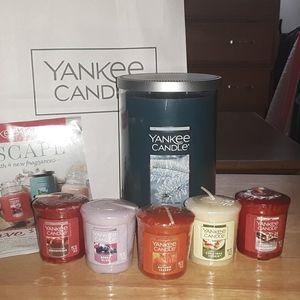 Large Jar Yankee Candle + 5 Samplers